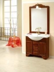 Set mobilier de baie din lemn masiv Michela