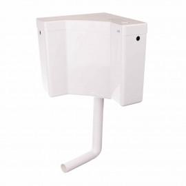 Rezervor WC Angolo, actionare start-stop, pe colt stil